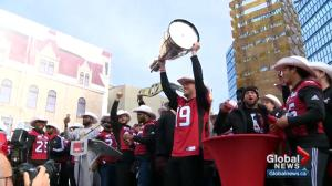 Stamps and fans celebrate Grey Cup Championship