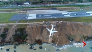 Dramatic images after passenger plane slides off the runway in Turkey
