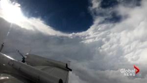 Hurricane Hunter flies through eye of Florence