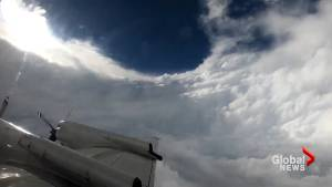 Hurricane Hunter flies through eye of Florence