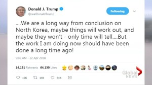 Trump says 'long way' to go on North Korea crisis
