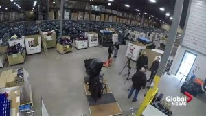 Time-lapse video of Global Edmonton setting up at 630 CHED Santas Anonymous
