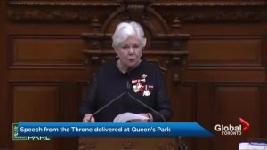 Ontario throne Speech promises less government