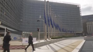 EU flags at half mast following Brussels attack