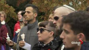Pittsburgh victims honoured at UBC vigil