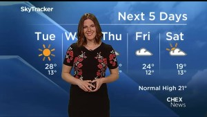 Warm conditions continue into weekend