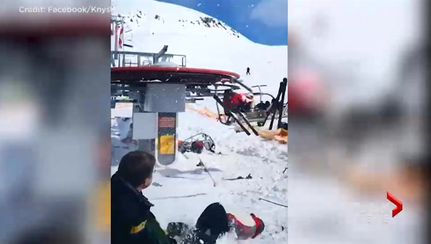 8 injured in ski-lift crash in Georgia