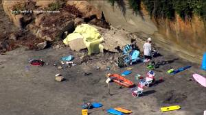 Fire chief says one dead, others injured after sea bluff collapses onto beachgoers in California