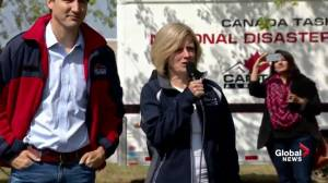 Rachel Notley addresses disaster relief workers in Fort McMurray: What a wonderful group of heroes