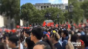Hong Kong supporters met with pro-China counter protest in London