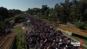 U.S.-bound caravan of migrants press on through Mexico