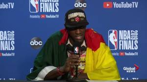 NBA Finals: Pascal Siakam says championship win is 'a dream'