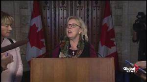 Elizabeth May praises Trudeau for adopting the 'Green Party plan' on carbon tax