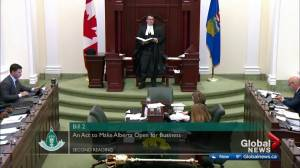 Alberta MLAs filibuster over proposed changes to labour legislation