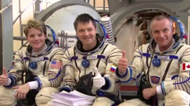 Canadian astronaut hopes mission with Russian, American colleagues spurs unity