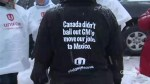 Workers protest outside GM headquarters in Oshawa