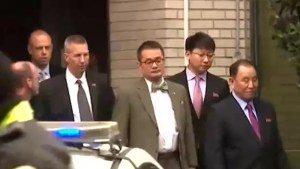 North Korean official Kim Yong Chol departs for a meeting with President Trump