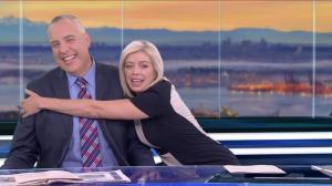 Hugs for Steve Darling after the Morning News team reunites