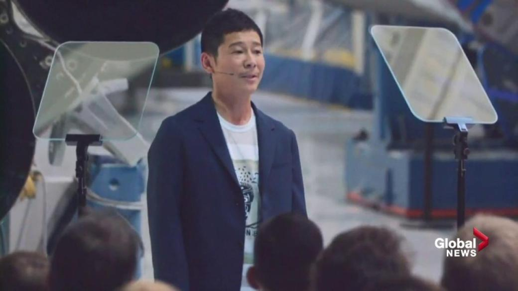 Click to play video 'Yusaka Maezawa says he's wanted to go to the moon since he was a kid'