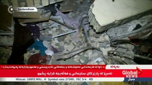 Kurdish TV shows destroyed buildings and families on streets after Iraq earthquake