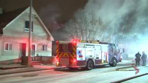 Morning fire on Selkirk Ave. in Winnipeg
