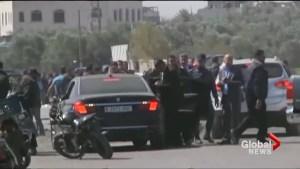 Explosion strikes Palestinian PM's convoy in Gaza
