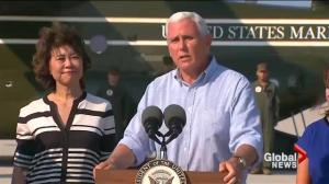 Vice President Mike Pence tours Hurricane Harvey disaster zone