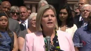 Horwath criticizes Ford's decision to cut Toronto city council in half (03:22)