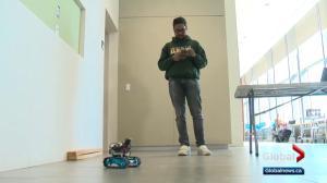 Robot that identifies intruders wins hackathon for Alberta student