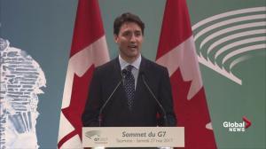 Trudeau details NAFTA talks with Trump at G7