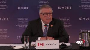 Goodale thanks G7 partners for messages of support following van attack