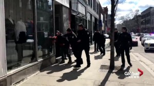 Video of Montreal police arresting couple