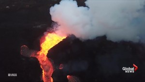 USGS footage continues to show lava flowing from Kilauea Volcano
