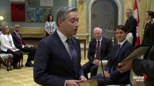 François-Philippe Champagne named new trade minister