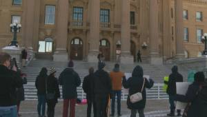 Students gather to protest possible changes to minimum wage should gov't change