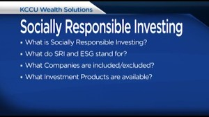 What is Socially Responsible investing?