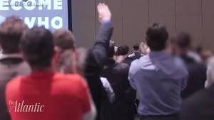 Right-wing conference features Nazi-style salute to Donald Trump