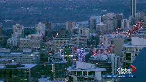 'Works for Women' lights up Edmonton towers on International Women's Day