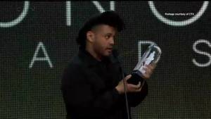 The Weeknd the big winner at the Junos