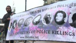 Vigil held in Montreal for victims of police violence
