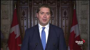 Scheer attacks Trudeau for exempting large polluters, won't say if he would do exact same thing