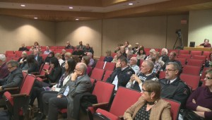 A large venue will be required for a public hearing on a controversial supportive housing project for the homeless in Kelowna