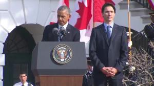 President Obama hails advances in healthcare during speech with Trudeau