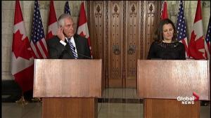 Tillerson discusses pressure campaign against North Korea