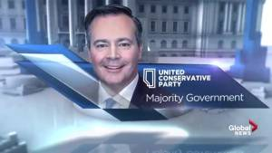 Alberta Election 2019: Global News projects a United Conservative majority government (01:06)