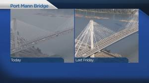 Bridge traffic before and after Port Mann tolls end