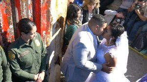 Couple separated by U.S.-Mexico border marry when border fence briefly opens