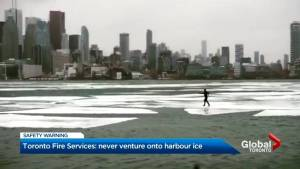 Safety concerns for Toronto harbour ice walker