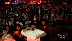 20,000 Raptors fans fill Mississauga's celebration square