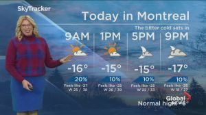 Global News Morning weather forecast: Friday, January 11